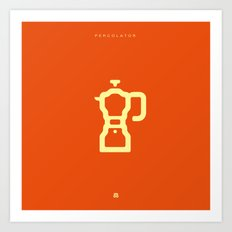 Coffee: The Percolator Art Print