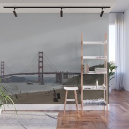 golden gate and the beach Wall Mural