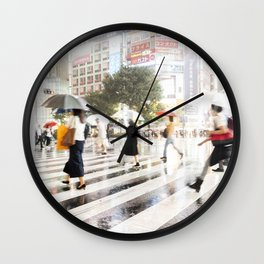 The Shibuya Crossing Wall Clock