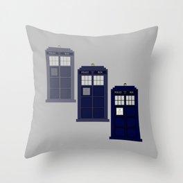 The Materializing TARDIS Throw Pillow