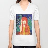 silence of the lambs V-neck T-shirts featuring Silence by Natsuki Otani