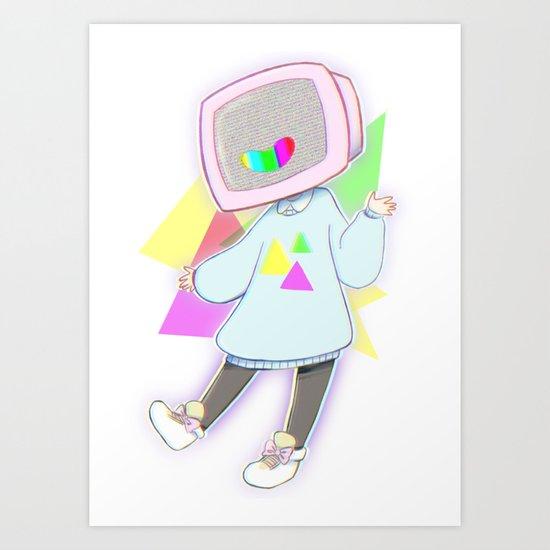 Tv Girl! Art Print