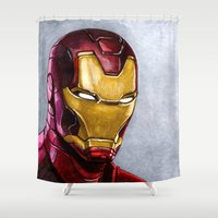 ironman Shower Curtains featuring IronMan by Morales