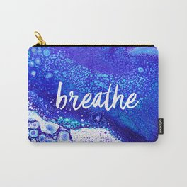 Breathe, Acrylic Pour Carry-All Pouch