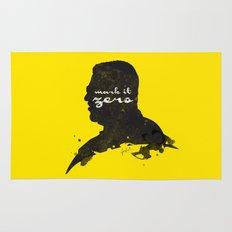 Mark it Zero –Walter Sobchak Silhouette Quote Rug