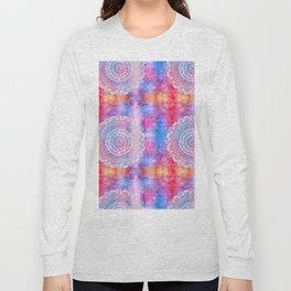 Modern Abstract Mandala Flower Long Sleeve T-shirt