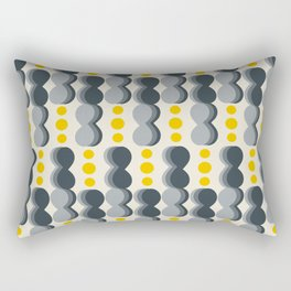 Uende Grayellow - Geometric and bold retro shapes Rectangular Pillow