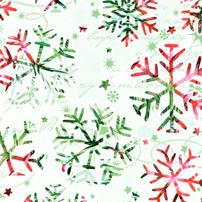 Red Green Snowflakes Leggings