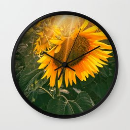 summer in the fields Wall Clock