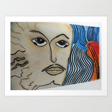 Break Through -  In Every Man's Heart Is A Yearning For Something Better And A Chance At Getting It! Art Print