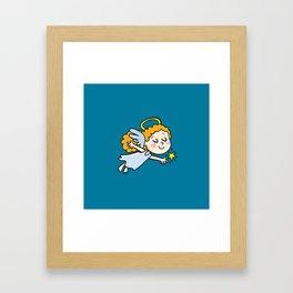 angel girl show a star Framed Art Print