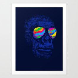 Blue Gorilla Art Print