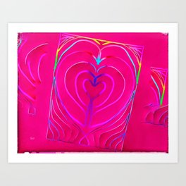 heart enveloped Art Print