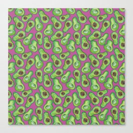 avocados in purple Canvas Print