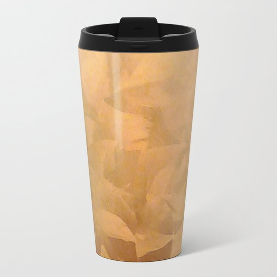 Brushed Copper Metallic - Beautiful - Rustic Glam - Fancy Faux Finishes - Unique Metal Travel Mug