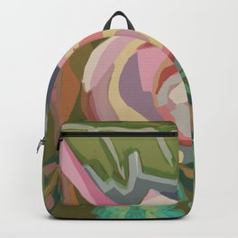Organic abstract floral Backpack