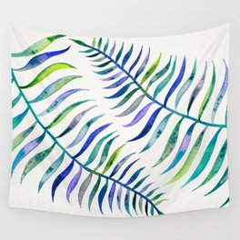 Indigo Palm Leaf Wall Tapestry