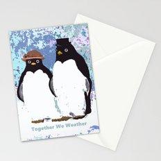 Together We Weather Penguin Art Stationery Cards