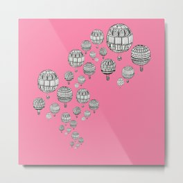 balloons in the pink Metal Print