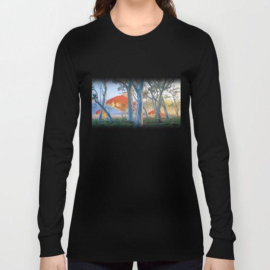 grazing goldfish Long Sleeve T-shirt