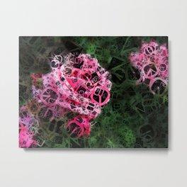Pink Roses in Anzures 1 Letters 4 Metal Print