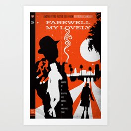 Hardboiled :: Farewell My Lovely :: Raymond Chandler Art Print
