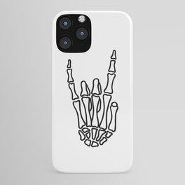 Heavy metal skeleton hand iPhone Case