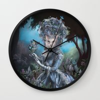 marie antoinette Wall Clocks featuring Marie Antoinette by Christina Hess