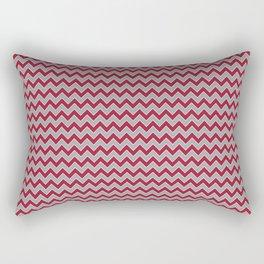 University of Alabama colors chevron zig zag minimal pattern college football sports Rectangular Pillow