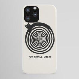 Hypnotic Black Cat iPhone Case