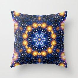 Star Burst Mandala Throw Pillow