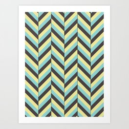 Offset Chevron Art Print