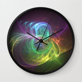 Spun Glass Wall Clock