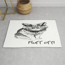 Fluff Off Angry Cat Rug