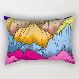 Deep Blue sky over the mountains Rectangular Pillow