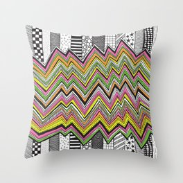 Stripes and Zig Zags Throw Pillow
