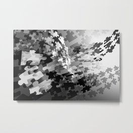Picture of a Puzzled Mind Metal Print
