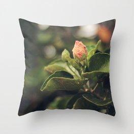 Capullo de Hibisco - Hibiscus bud Throw Pillow