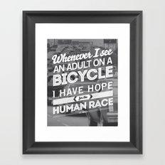 Hope For The Human Race Framed Art Print