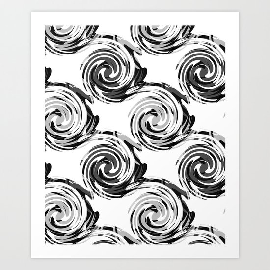 Abstract pattern in black and white tone. Art Print