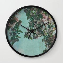 Sweet Crabapple Blossom Overhang Wall Clock
