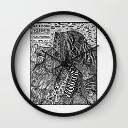 Half Dome Sketch Wall Clock