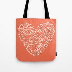 Heart Coral Tote Bag