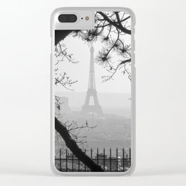 Winter in Paris Clear iPhone Case