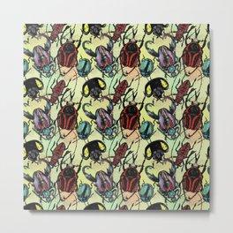 Tossed Beetles Metal Print