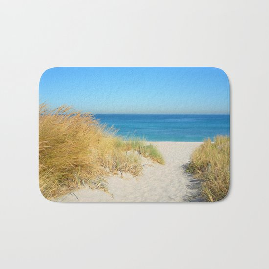 Sand coast by the sea. Bath Mat