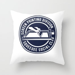 Squeegee Social Club Throw Pillow