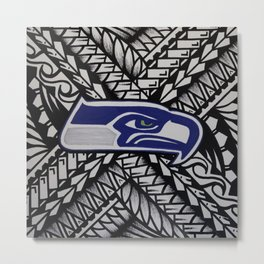 Seahawks poly style Metal Print