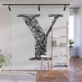 ''City Collection'' - Minimal Letter Y Print Wall Mural