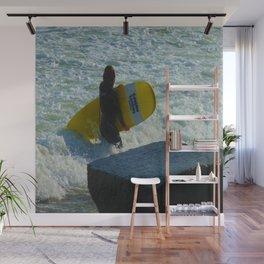 Little Surfer Girl Wall Mural